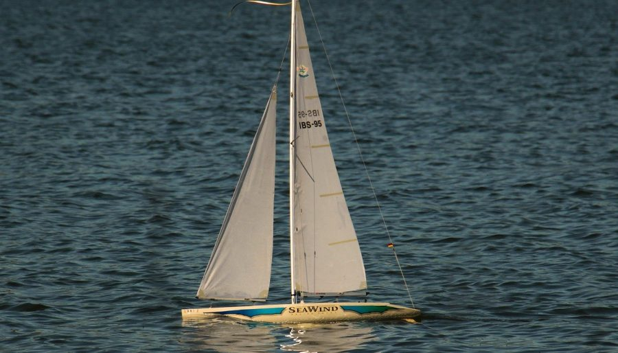 Image of model sailing boat